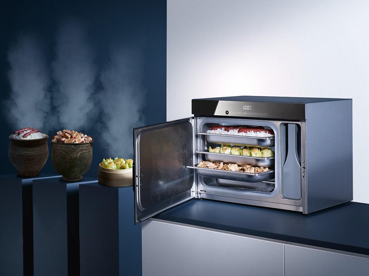 Countertop Steam Oven : DG 6010 Countertop steam oven Obsidian black - Steam oven