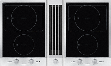 CSDA 1010 EDST - ProLine with downdraft extractor consists of two induction hobs with an extraction fan at the centre.--NO_COLOR